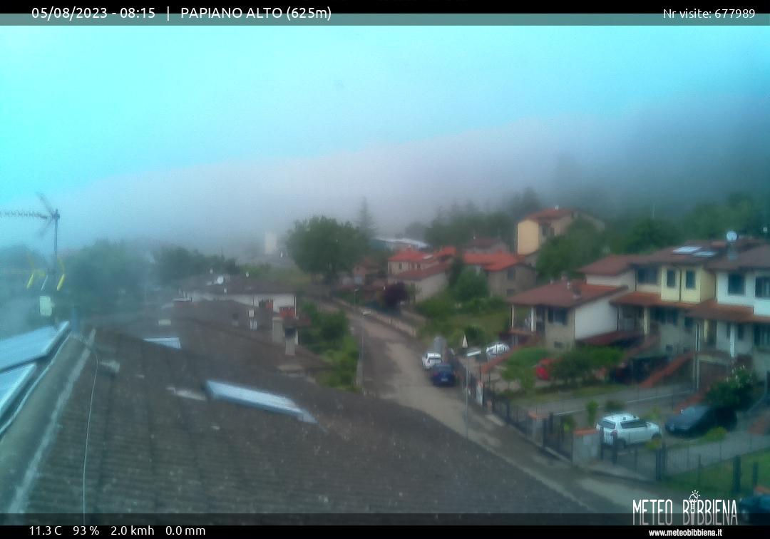 webcam Papiano, provincia di Arezzo, Toscana